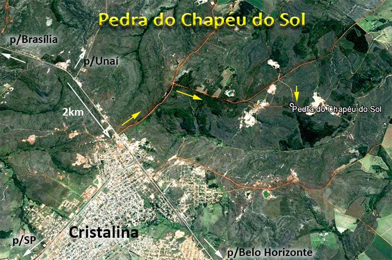 Localização Pedra do Chapéu do Sol
